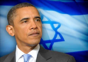 Obama en Isr vlag